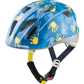 Alpina Ximo Helm Kinder blue hands gloss